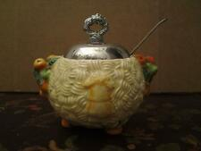 Clarice Cliff Newport pottery pot & metal lid CELTIC HARVEST free spoon perfect
