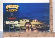 1970s UNUSED POST CARD RIMROCK MOTOR INN, FARMINGTON, NM