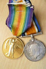 WW1 MEDAL PAIR TO M2-167063 PRIVATE AE COBB OF THE ARMY SERVICE COR(SUP ORIGINAL