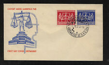 Germany 584-85  on  cachet  cover      KL0906