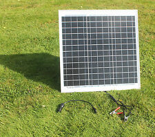 30 W MONOCRYSTALLINE  SOLAR PANEL 30 WATTS  BATTERY CHARGER  12V PV-with DIODE