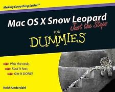 Underdahl, Keith Mac OS X Snow Leopard Just the Steps For Dummies Very Good Book