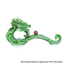 FZ02824 Franz Porcelain Green dragon with red ball yulong wishful figurine