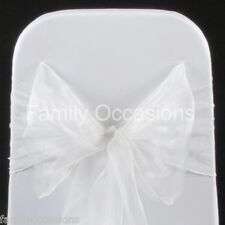 100 ORGANZA SASHES CHAIR COVER BOW SASH FOR SALE UK