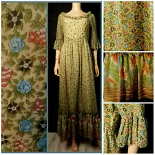 Vintage 70 s Dress Regency Edwardian Historical Richard Shops Maxi Folk Dress 10