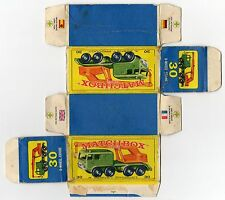 Boîte copie repro MATCHBOX LESNEY 30 6 wheel crane ( reproduction box vide )