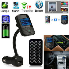Bluetooth V3.0 LCD Car Kit MP3 Player Modulator SD MMC USB Remote FM Transmitter