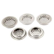 Metal Round Louver Ventilation Grille Air Vent 3mm Mesh Hole 5 Pcs YM