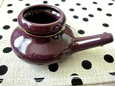 Purple Delight Ceramic Neti Pot - Non toxic - BPA free - Nasal Cleansing