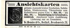 Dr.Hennies & Co. Berlin ANSICHTSKARTEN Kolonialwerbung von 1908