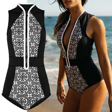 Retro Women Push Up Bikini Padded One Piece Monokini Swimsuit Swimwear Beachwear