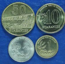 PARAGUAY - SET de 4 PIECES - 1992 1996 1998 - 1 / 5 / 10 / 50 Guaranies - NEUF