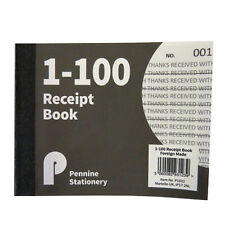 Receipt Book - 1 to 100 Numbered Pages – Ruled - Size 127mm x 103mm
