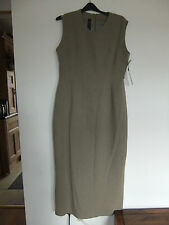 vintage 1990s yellow hammer khaki dress sz 16 penci/straight/wiggle Nwt