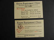 CANADA 2 1947 Keyes Equipment Ottawa advertising postcards, check them out!