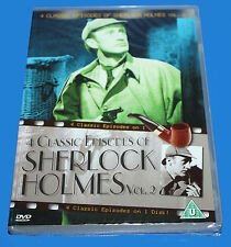 4 CLASSIC EPISODES OF SHERLOCK HOLMES VOL.2 - DVD  - NEW IN SEALED BOX