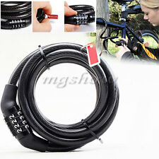 """56"""" Cycling Security Cable 4-digit Combination Password Bike Bicycle Lock New"""
