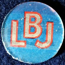 LBJ FOR THE USA PRESIDENT -  FLASHER BUTTON 1964 - ORIGINAL  PINBACK NEVER USED