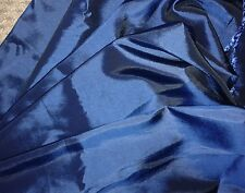 "1 mt blue taffeta fabric remnant 59"" wide"