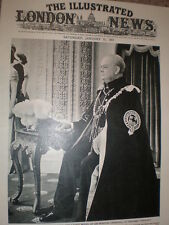 Photo article latest wax work Winston Churchill Madame Tussaud's London 1957