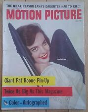 MOTION PICTURE  MAGAZINE JULY 1958 NATALIE WOOD PAT BOONE AUTOGRAPHED ISSUE