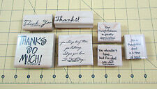 Stampin Up Many Thanks Stamp Set of 7 Thank You Sentiments 2001