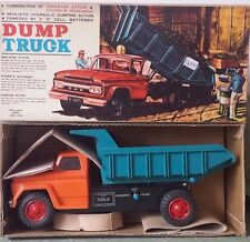 DUMP TRUCK REALISTICO HYDRAULIC DUMPING TIN  - TRADE MARK - ALPS - MADE IN JAPAN
