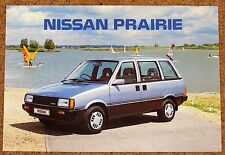 1986 NISSAN PRAIRIE Sales Brochure inc Anniversary II - Brand New Old Stock!!