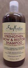 Shea Moisture Black Castor Oil Strengthen Grow Restore Shampoo Sealed 16.3 fl oz