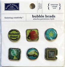 Back To School Star Student Karen Foster Bubble Brads Approx 3/4 inch across