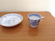 OLD CHINA CUP & SAUCER :WILLOW PATTERN