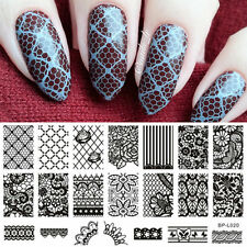 Nagel Schablone Nail Art Stamp Template Plates BORN PRETTY BP-L020 12.5 x 6.5cm