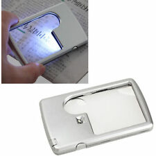 3x 6x LED Jewelry Loupe Credit Card Magnifier Wallet Magnifier Magnifing Glass