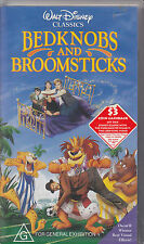 PAL VHS VIDEO TAPE :  BEDKNOBS AND BROOMSTICKS. DISNEY CLASSICS