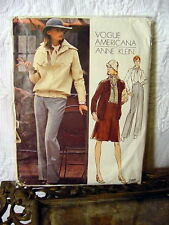 70s Vogue Anne Klein jacket/pants Designer Pattern 2991 14/36 bust