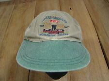 Vintage Levi's Denim Hat-VGC-1990's-100% Cotton-Jeans-501-RED LINE-BIG E-Leather