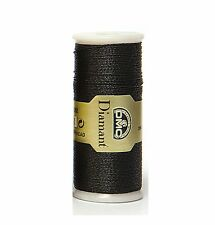 DMC DIAMANT THREAD NO. D310 35 METER SPOOL BLACK -  FREE UK POSTAGE AND PACKING