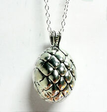 Game of Thrones inspired dragon egg pendant necklace 24 inch chain