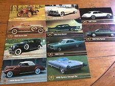 Vintage Car & Driver Cadillac Collection 10 Cards 1993