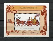 27820) GAMBIA 1996 MNH** Nuovi** Classic Fire Engines  S/S