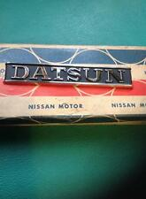 DATSUN Skyline HGC210 C210 Trunk Lid Emblem Badge NOS