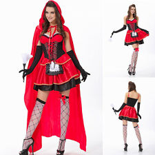 NEW Cosplay Masquerade Party Costume Sexy Little Red Riding Hood Fancy Dress