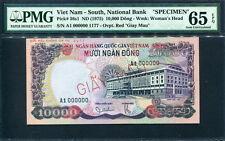 Viet Nam South 1975, Specimen 10000 Dong, P36s1, PMG 65 EPQ GEM UNC