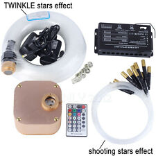 16W RGBW TWINKLE Fiber Optic Star Ceiling Light 335pcs 0.75+1.0+1.5mm 4m+meteor