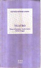 N13 teatro Gotthold Ephraim Lessing Utet 1981