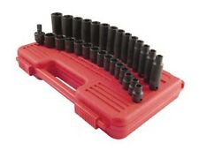 "Sunex 3/8"" dr 29pc Metric Master Impact socket Set, Short & Deep 8-22mm #3329"