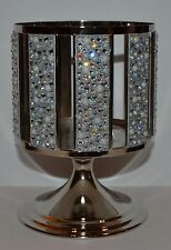 BATH & BODY WORKS PEARLS GEMS PEDESTAL LARGE 3 WICK CANDLE HOLDER SLEEVE 14.5 OZ
