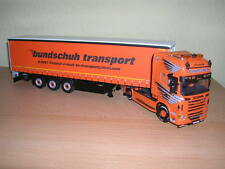 WSI Scania R6 Topline 4x2 bundschuh + Tenda Lato Trailer - 3 Assale 1:50