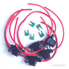 5 20A 14AWG Wire In-line Car Automotive Mini Blade Fuse Holder Fuseholder +Fuse