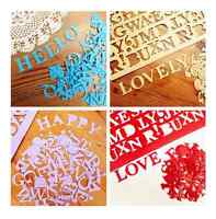 60 PCS Alphabet Chipboard Embellishments Scrapbooking Cardmaking Craft Toppers